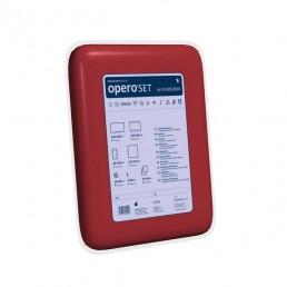 OPERO SET, zestaw podstawowy z czerwoną osłoną na stolik Mayo, 1kpl.