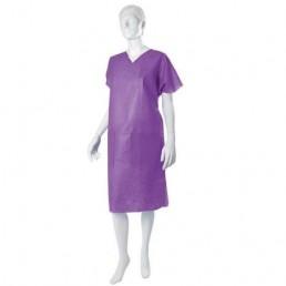 Sukienka operacyjna, włóknina SMS, fioletowa,1szt.