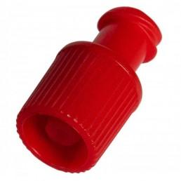 Korek luer lock, stoper czerwony BIOMEDICO, 100szt/op