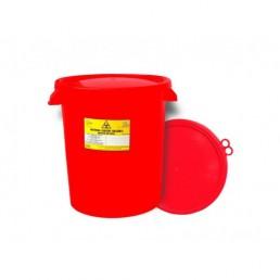 Pojemnik na odpady medyczne z pokrywą, 30L wiaderko