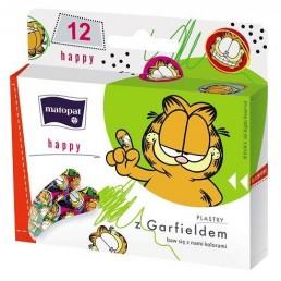 Zestaw plastrów Happy Garfield, 12szt/opak