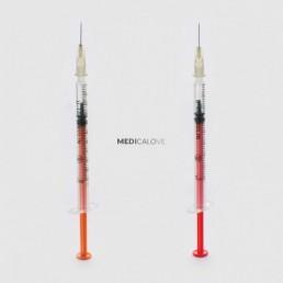 Strzykawki insulinowe Zarys Dicosulin U40, 1ml z igłą 0,4x13mm 100sz/op