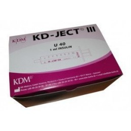 Strzykawka insulinowa KD-JECT III 1ml U40 z igłą nakładaną 27Gx1/2 / 0,4x13mm 100szt/op 831779