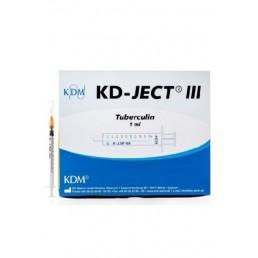 Strzykawka tuberkulinowa KD-JECT III 1ml z igłą nakładaną 26Gx1/2 / 0,45x12mm 100szt/op 831786