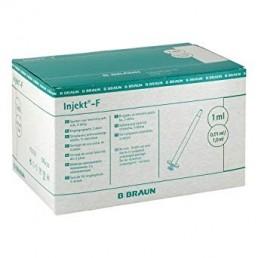 Strzykawka tuberkulinowa 2cz. B.Braun Inject-F, luer solo, 1ml 100szt/op 9166017V