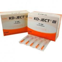 Strzykawka insulinowa KD-JECT III 0,5ml U100 z igłą wtopioną 29Gx1/2 / 0,33x12,7mm 100sz/op 870518