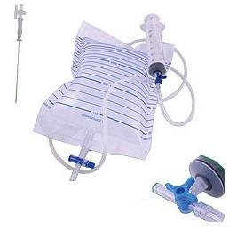 Zestaw do punkcji jamy opłucnej (paracentezy) z kranikiem, 3 igły