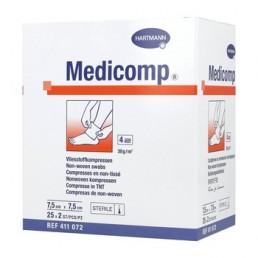 Kompres włókninowy Hartmann MEDICOMP, jałowy, 4W, 7,5x7,5cm, 2x25szt/op