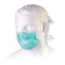 Maseczka chirurgiczna 3W z włókniny z trokami opak. 50szt. zielona