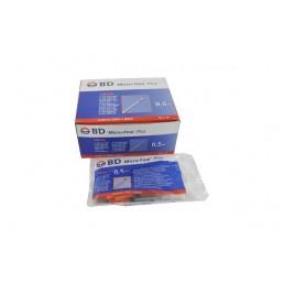 Strzykawki insulinowe BD® 0,5ml z igłą 0,30mm (30G)x8mm 10szt/op