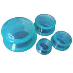 Bańki silikonowe do masażu, chińskie, zielone/białe, komplet 4 szt.