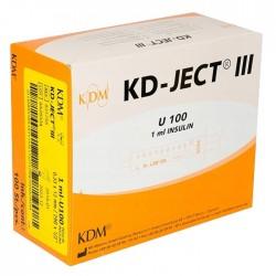 Strzykawka insulinowa KD-JECT III 1ml U100 z igłą wtopioną 29Gx1/2 / 0,33x12mm 100szt/op 831755