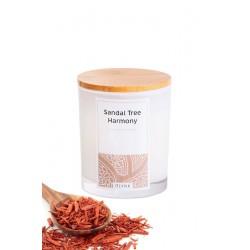 Świeca zapachowa z wosku sojowego w szkle-(Sandal Tree Harmony), 300ml