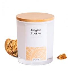 Świeca zapachowa z wosku sojowego w szkle-(Belgian Cookies), 300ml