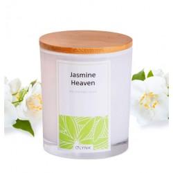 Świeca zapachowa z wosku sojowego w szkle-(Jasmine Heaven), 300ml