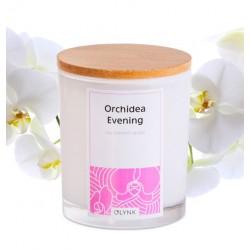 Świeca zapachowa z wosku sojowego w szkle-(Orchidea Evening), 300ml