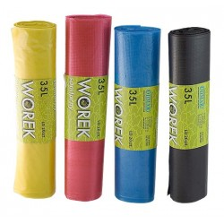 Worki na odpady żółte, sanitarne, 35L, HD 50szt/rol