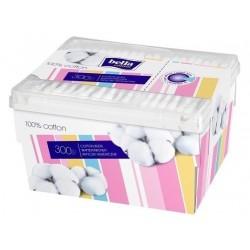Patyczki bawełniane, higieniczne, Bella Cotton w pudełku a`300szt.