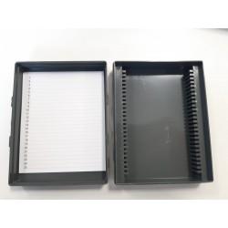 Pudełko na szkiełka cytologiczne / mikroskopowe na 25szt PEŁNE