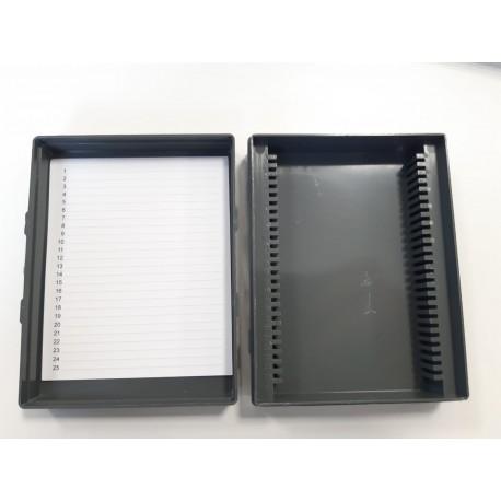 Pudełko na szkiełka cytologiczne / mikroskopowe 25szt - 1 opak.