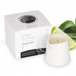 Świeca do masażu w kartonie (kropla słodyczy-malina, wanilia, śmietanka), 250g